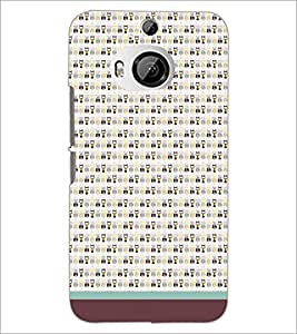 Printdhaba Owl Pattern D-1683 Back Case Cover For Htc One M9 Plus