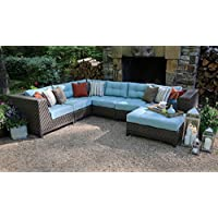 AE Outdoor Dawson 7 Piece Sectional with Cushions