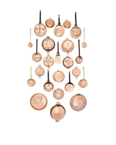 25-Piece Old Copper Kitchen Wall Assortment