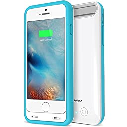 iPhone 6S Battery Case - iPhone 6 Battery Case, Trianium Atomic S iPhone 6 6S Portable Charger Charging Case [White/Blue]-3100mAh Battery Pack Juice Bank [MFI Apple Certified]