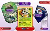 The metal box CHESNAUGHT holo 14/146 XY Flashfire + 1 Optimized Booster of 6 English new rare cards + 1 Optimized Booster of 50 English new common cards