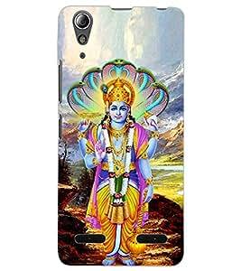 ColourCraft Lord Vishnu Design Back Case Cover for LENOVO A6000