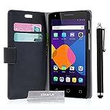 zStarLn® schwarz Hülle Leder Tasche für Alcatel One
