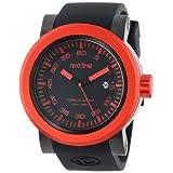 Reloj Red Line RL-50049-BB-01-RDB Torque, deportivo, para hombre, dial negro y pulsera de silicona.