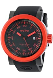 red line Men's RL-50049-BB-01-RDB Torque Sport Black Dial Silicone Band Watch