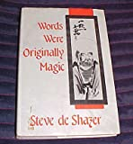 img - for Words Were Originally Magic by Steve de Shazer book / textbook / text book