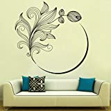 Decal Style Flower Swirl Wall Sticker Large Size-30*30 Inch
