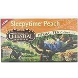 Celestial Seasonings Herb Tea,Sleepytime,Peach - Case of 6 - 20 Bag