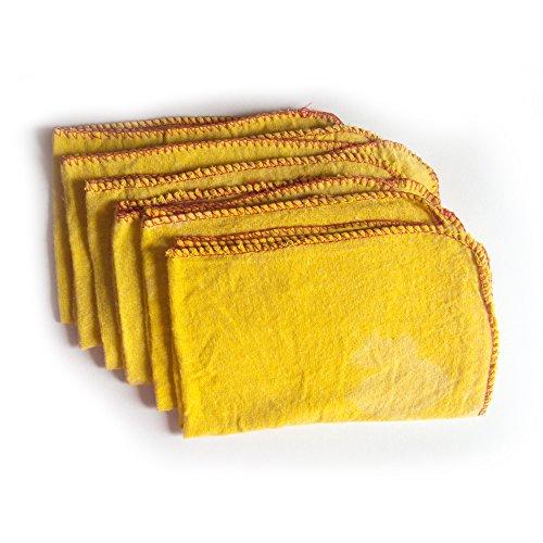 6 Bombolette Jumbo Dusters New Best Quality Swish Cotone Lucidatura Giallo Panni Di Pulizia Di Qualità Grande Pure Heavy Duty Delle Famiglie Spring Clean Spolverare