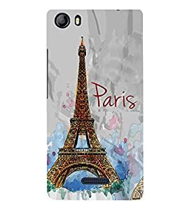 Eiffel Tower Painting 3D Hard Polycarbonate Designer Back Case Cover for Micromax Canvas 5 E481