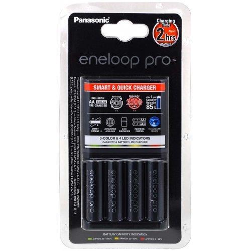 chargeur Panasonic eneloop BQ-CC16 incl. 4 batteries AA eneloop Pro