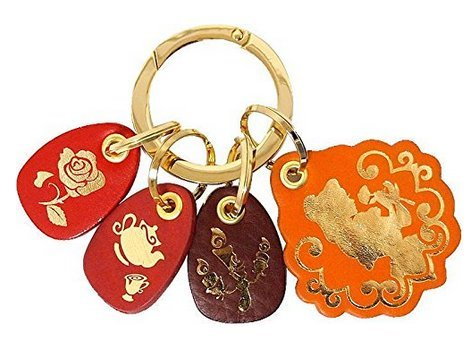 disney-fantastic-leather-collection-belle-key-ring-bag-accessory-japan-f-s