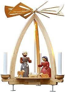 Weihnachtspyramide 1-stöckige Außenpyramide Christi Geburt - 300cm - Original Erzgebirge - Seiffener Volkskunst