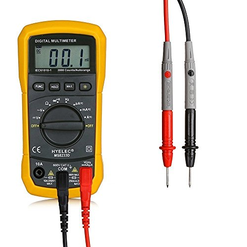 Multimètre numérique, Crenova MS8233D multimètre numérique Détecteur de tension AC Portable Testeur avec rétroéclairage