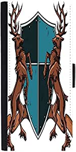 Snoogg Crests Vector Element Graphic Snap On Hard Back Leather + Pc Flip Cove...
