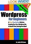 Wordpress for Beginners: A Visual Ste...