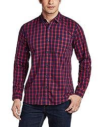 Wrangler Men's Casual Shirt (8907222642136_W14824945114_X-Large_Red)