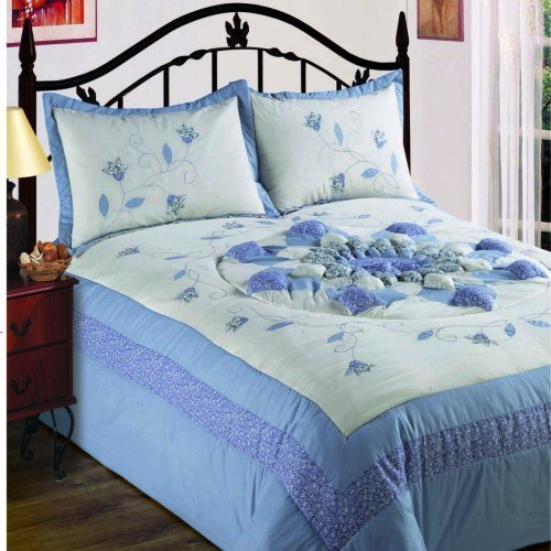 King Size Bedspread Set Lydia Blue King Bedspread Set Quilted
