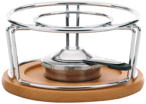 kela-61000-rechaud-pour-fondues-et-wok-metal-chrome-bois-diametre-21-cm-hauteur-115-cm-natura