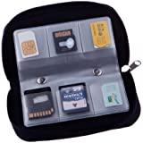 22 slots case pouch holder for memory card SD card.Memory Card Carrying Case memory card holder (1 pack) (1 pack, As shown)