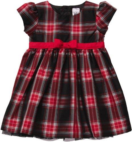 Carter'S Plaid Dress - Red/Black-Nb front-968517