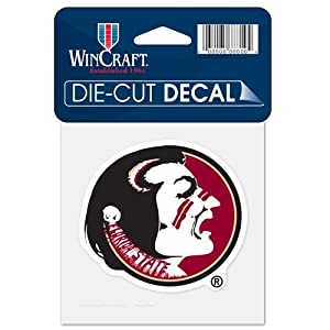 Buy Florida State Seminoles Official NCAA 4x4 Die Cut Car Decal by Wincraft by WinCraft