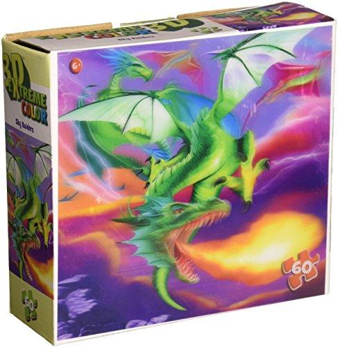 Masterpieces Sky Raiders Kids Lenticular 3-D Puzzle (60-Piece)