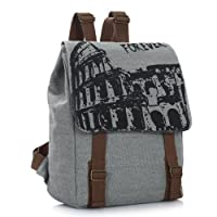 Crazycity Arrival European Fashion Students Backpack Retro School Bag Vintage Korean Leisure Canvas Backpack Trendy Rucksack England College Wind Daypack Laptop Backpack for Students Ladies Women Girls Teens