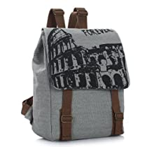 Crazycity New Arrival European Fashion Students Backpack Retro School Bag Vintage Korean Leisure Canvas Backpack Trendy Rucksack England College Wind Daypack Laptop Backpack for Students Ladies Women Girls Teens
