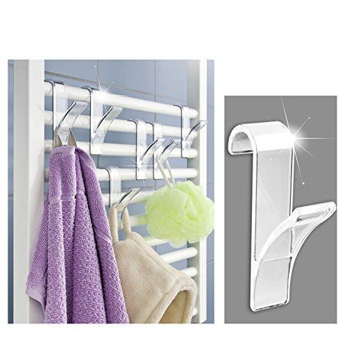 Appendini porta asciugamani, per termoarredo, confezione da 6