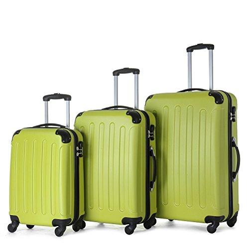 BEIBYE 2045 Set di valigie rigide, 3 pezzi, colore verde