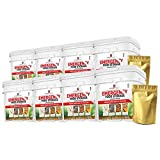 """The BEST Emergency Food by """"My Food Storage"""" Gourmet Freeze Dried Meats (480 Servings) - Freeze Dried Diced Beef - Freeze Dried Chicken - Freeze Dried Sausage Crumbles - Freeze Dried Seasoned Beef Crumbles"""