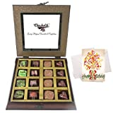 Elegant Chocolates Gift Box With Birthday Card - Chocholik Belgium Chocolates