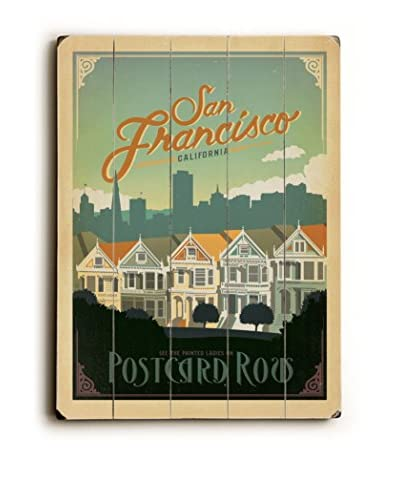 Artehouse San Francisco Postcard Row Wood Wall Décor
