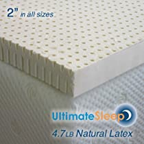 Big Sale Standard King - 2 Inch Natural Latex Foam Mattress Pad Topper - Medium Soft