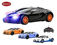 Bugatti Veyron Remote Control Car for Kids - Working Lights - PL9129 Electric Radio Controlled Bugatti Veyron 16.4 Grand Sport Vitesse RC Car - Official Licensed 1:18 Model - RTR, EP (Colour May Vary)