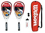 2 Wilson Tour Pro Junior Squash Racke...