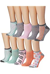 Tipi Toe Women's Colorful Patterned No Show Socks