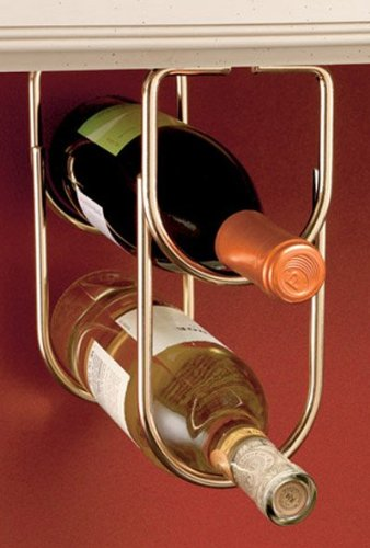 Rev-A-Shelf RS3250BR Double Wine Bottle Rack with Brass