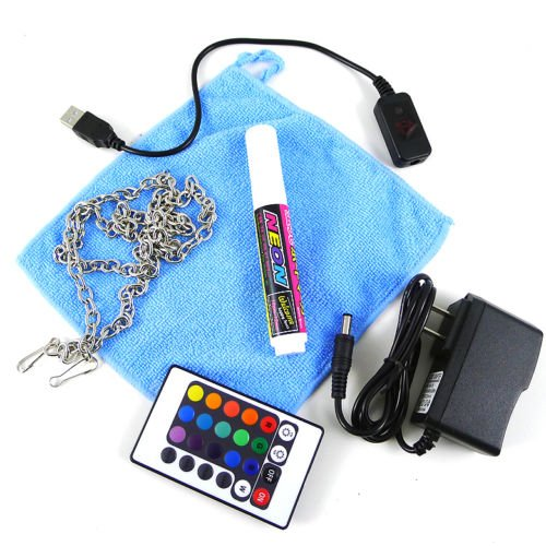 """Remote Control Flash Led Writing Board 32""""X24"""" Fluorescent Sign 16 Colors 4 Mode"""