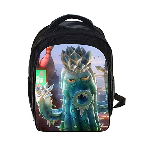 Follow918 Plants Vs Zombies Series Unisex Kids School Backpack PVZ Cartoon Kindergarten Schoolbags Game Character Comfortable (Zombie Cartoon Characters)