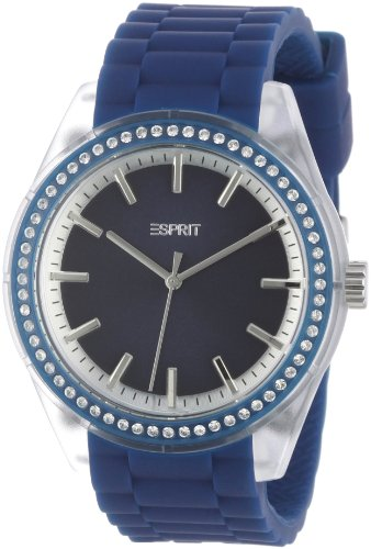 Esprit ES900692002 - Reloj analógico de cuarzo para hombre con correa de plástico, color verde