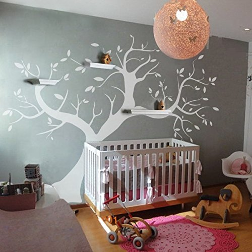 Memory Tree Photo Frame Tree Wall Vinyl Decal Sticker Removable Nursery Wall Sticker Decor Art For Kids Boys and Girls (Large,White) by WallsUp