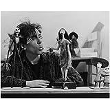 Tim Burton on Set Whistling to Jack Skellington and Sally 8 x 10 Photo