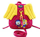 KAMAYS Children Toddler Kids Baby Cartoon penguin Backpack Contains safety harness two colours red