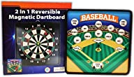 2 in 1 Reversible Magnetic Dartboard…