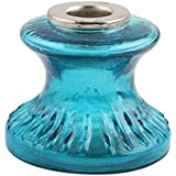 Turquoise Depression Glass Candle Holder Home Christmas Diwali Decoration IndianShelf Handmade