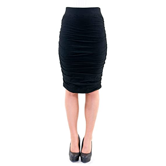 Hard Tail Ruched Pencil Skirt