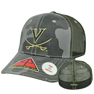 Buy NCAA Virginia Cavaliers Deliverance Pro Pocket Camo Stretch Flex Fit Hat Cap M L by Pro Pocket Headgear