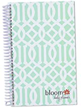 bloom daily planners 2015 Calendar Year Planner - Passion/Goal Organizer - Fashion Agenda - Weekly Diary - Monthly Datebook - (January 2015 Through December 2015) Mint Trellis
